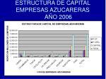 estructura de capital empresas azucareras a o 2006