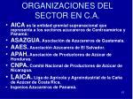 organizaciones del sector en c a
