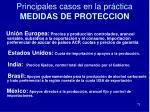 principales casos en la pr ctica medidas de proteccion