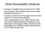 other accessibility initiatives24