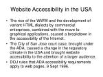 website accessibility in the usa26
