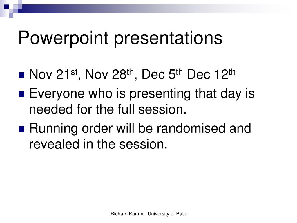 powerpoint presentations l.