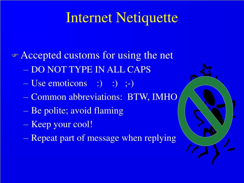 Internet Netiquette