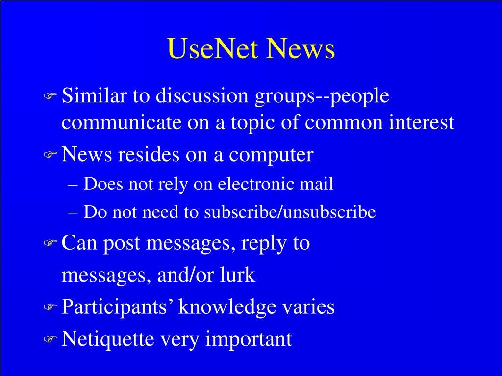UseNet News