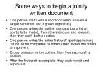 some ways to begin a jointly written document