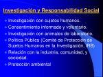 investigaci n y responsabilidad social