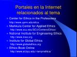 portales en la internet relacionados al tema