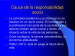 cauce de la responsabilidad social
