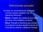 definiciones actuales