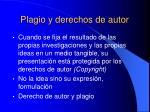 plagio y derechos de autor