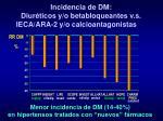 incidencia de dm diur ticos y o betabloqueantes v s ieca ara 2 y o calcioantagonistas