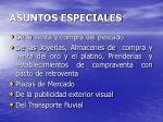 asuntos especiales