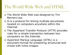 the world wide web and html