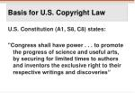 basis for u s copyright law