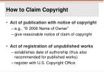 how to claim copyright