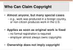 who can claim copyright