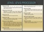 jenis jenis processor