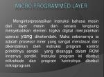 micro programmed layer
