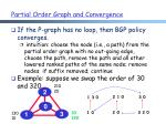 partial order graph and convergence