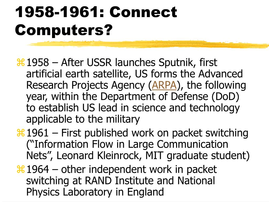 1958-1961: Connect Computers?