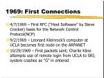 1969 first connections