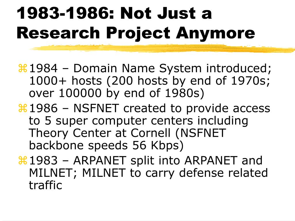 1983-1986: Not Just a Research Project Anymore