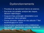 dysfonctionnements