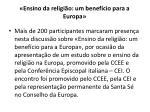 ensino da religi o um benef cio para a europa