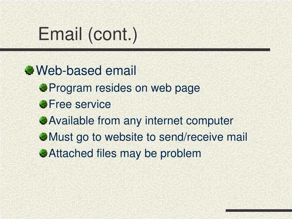 Email (cont.)