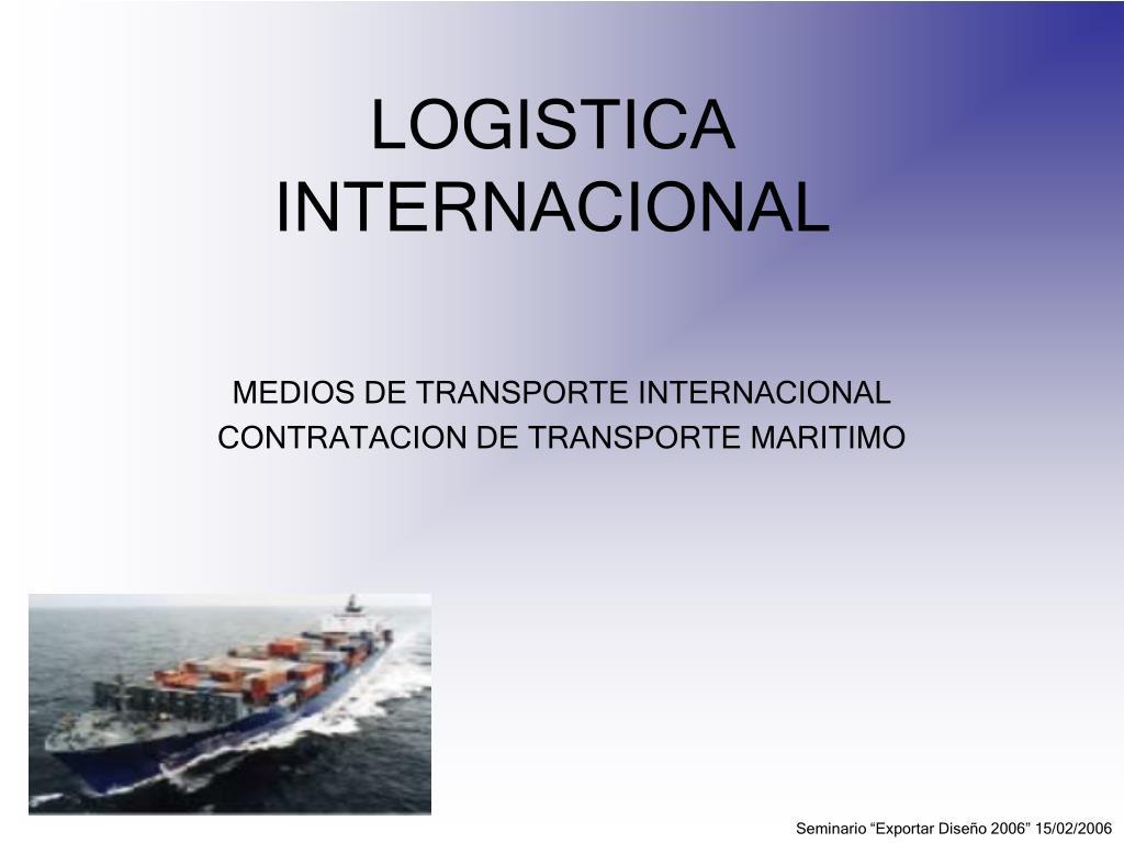 logistica internacional l.