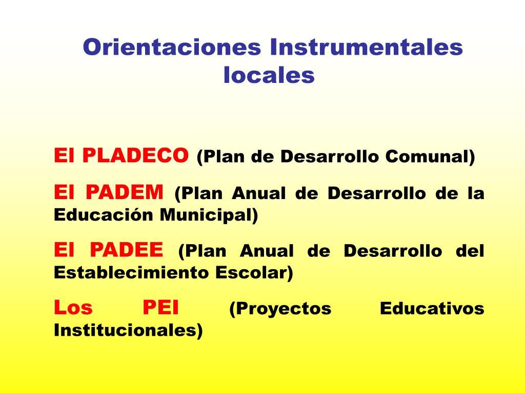 Orientaciones Instrumentales locales