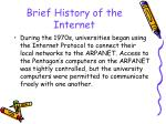 brief history of the internet23