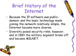 brief history of the internet24