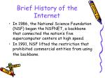 brief history of the internet25