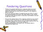 pondering questions7