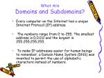 what are domains and subdomains
