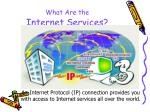 what are the internet services