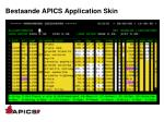 bestaande apics application skin