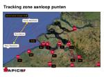 tracking zone aanloop punten