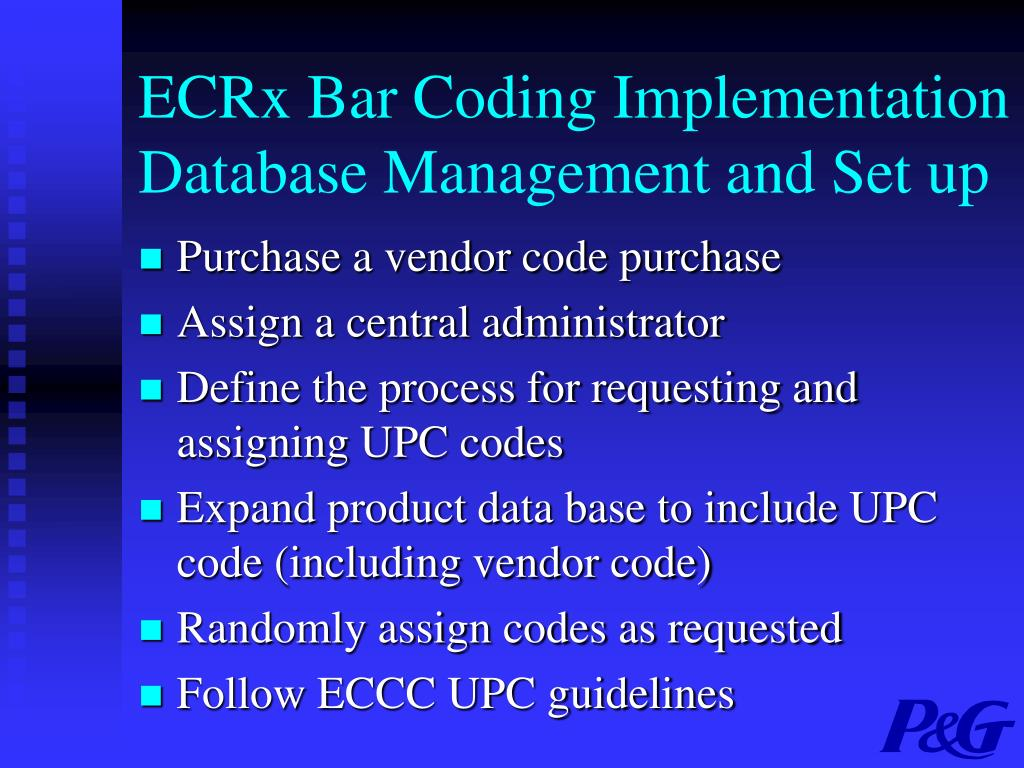 the implementation process of bar coding for