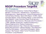 nsqip procedure targeted41