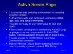 active server page