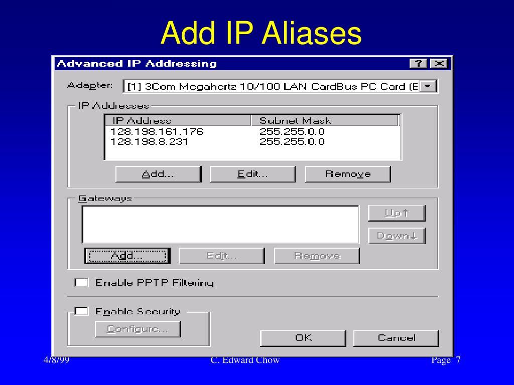 Add IP Aliases