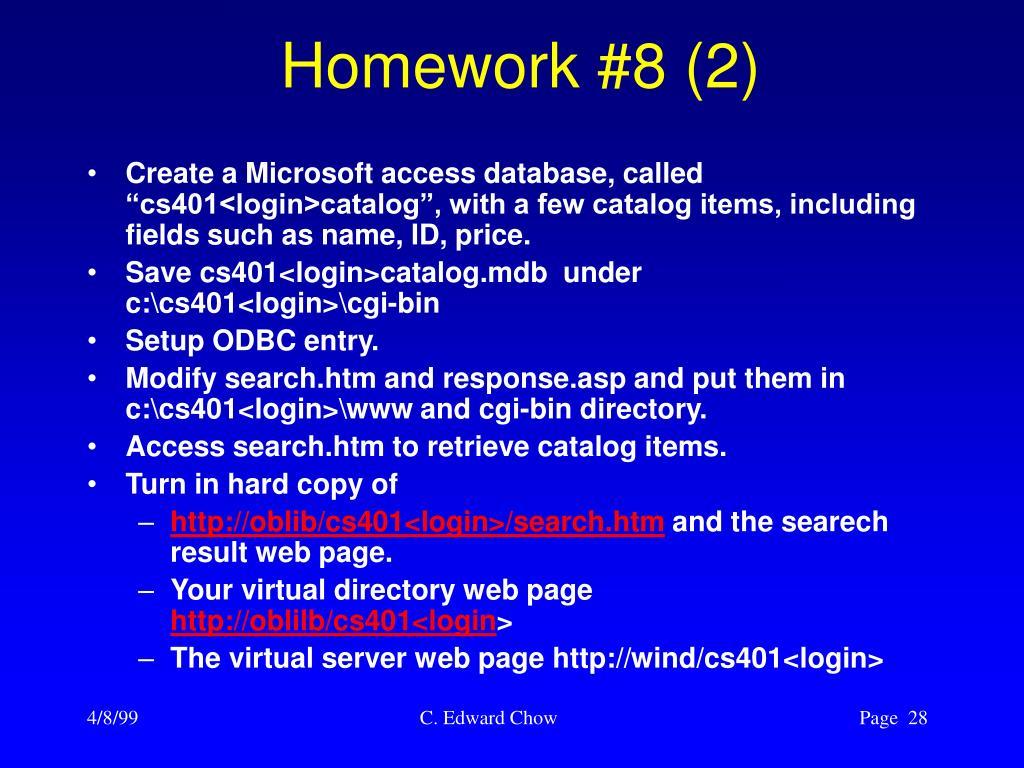 Homework #8 (2)