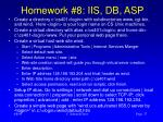 homework 8 iis db asp