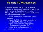 remote iis management
