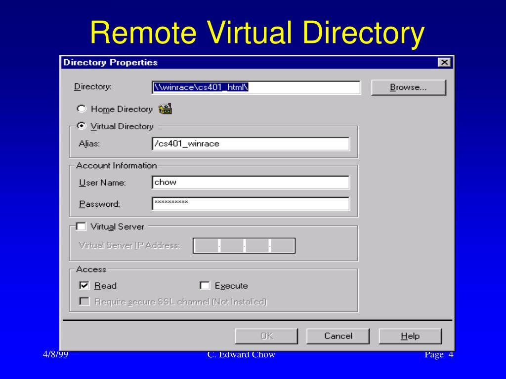 Remote Virtual Directory