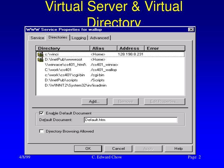 Virtual server virtual directory