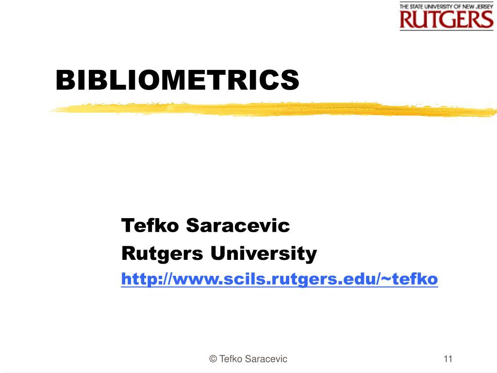 bibliometrics l.
