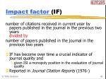 impact factor if